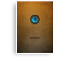 Doctor Who - Dalek Exterminate Canvas Print