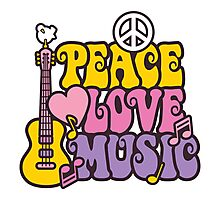 Peace, Love, Music Photographic Print
