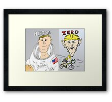 Armstrong vs. Armstrong - Hero and Zero Framed Print