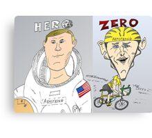 Armstrong vs. Armstrong - Hero and Zero Canvas Print