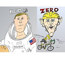Armstrong vs. Armstrong - Hero and Zero Photographic Print