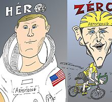 Caricature des deux ARMSTRONG by Binary-Options