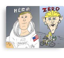 Caricature des deux ARMSTRONG Canvas Print