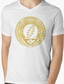 Mayan Calendar Steal Your Face - GOLD Mens V-Neck T-Shirt