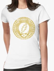 Mayan Calendar Steal Your Face - GOLD Womens Fitted T-Shirt