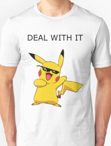 Pikachu - Deal with it T-Shirt