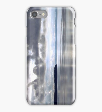 Calm Water Under Cloudy Sky - Puget Sound iPhone Case/Skin