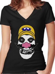 Misfit Wario Women's Fitted V-Neck T-Shirt