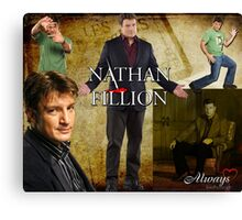 Nathan Fillion Canvas Print