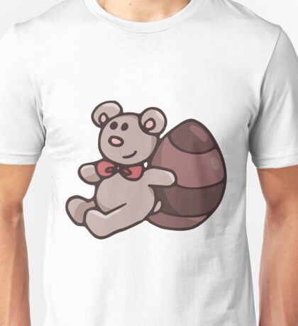 Teddy Bear with Chocolate Egg Unisex T-Shirt