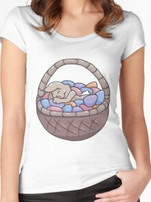 Asleep Amongst the Easter Eggs Women's Fitted Scoop T-Shirt
