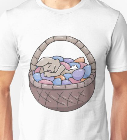 Asleep Amongst the Easter Eggs Unisex T-Shirt