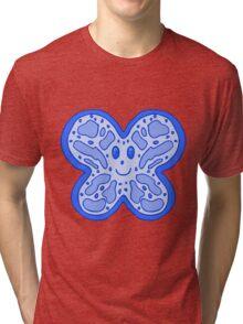 Blue Butterfly Face Tri-blend T-Shirt