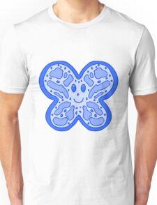 Blue Butterfly Face Unisex T-Shirt