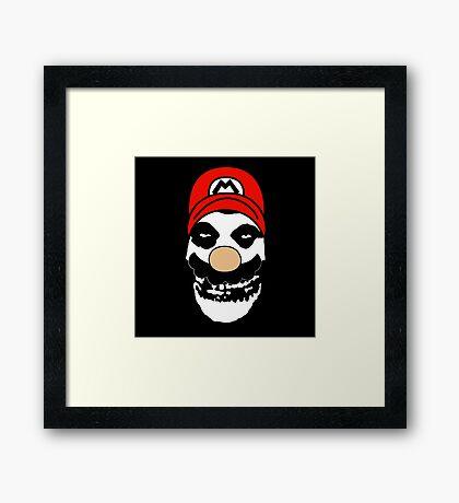 Misfit Mario Framed Print