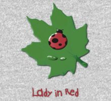Lady in Red T-shirt design Kids Clothes