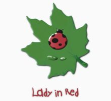 Lady in Red T-shirt design Kids Tee