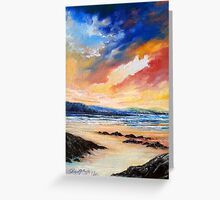 Sunset over Caherdaniel Co. Kerry, Ireland Greeting Card