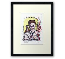 Fight Club #3 Tyler and I just gave it a name Framed Print