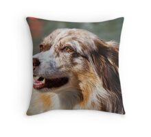 Kelly The Australian Shepherd Throw Pillow