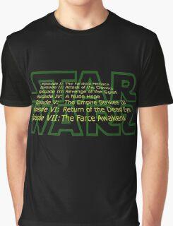 Star Warz - Episode Joke List Graphic T-Shirt