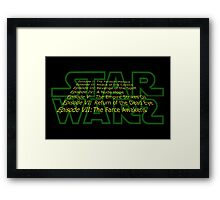 Star Warz - Episode Joke List Framed Print