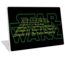 Star Warz - Episode Joke List Laptop Skin