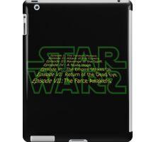 Star Warz - Episode Joke List iPad Case/Skin