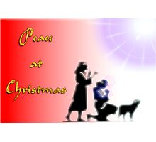 Peace at Christmas Photographic Print
