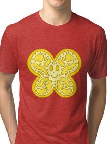 Yellow Butterfly Face Tri-blend T-Shirt