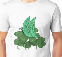 Celtic Butterfly on Clovers Unisex T-Shirt