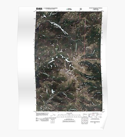 USGS Topo Map Washington State WA Tiffany Mountain 20110429 TM Poster