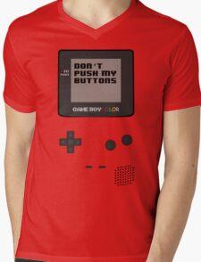 Nintendo - Don't Push My Buttons (Gameboy Color) Mens V-Neck T-Shirt