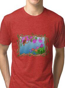 Bird in a Blossom Garden Tri-blend T-Shirt