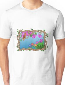 Bird in a Blossom Garden Unisex T-Shirt