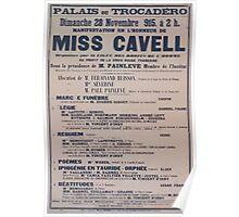Palais du Trocadéro Manifestation en lhonneur de Miss Cavell Organisée par la Lique des Droits de lHomme au profit de la Croix Rouge française Poster