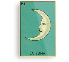 Tarot Card - La Luna - loteria - The moon Metal Print