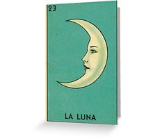 Tarot Card - La Luna - loteria - The moon Greeting Card