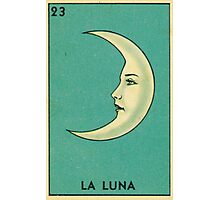 Tarot Card - La Luna - loteria - The moon Photographic Print