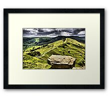 The Ridge to Mam Tor. Back Tor Derbyshire Framed Print