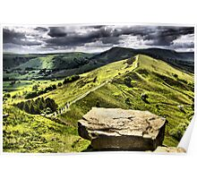 The Ridge to Mam Tor. Back Tor Derbyshire Poster