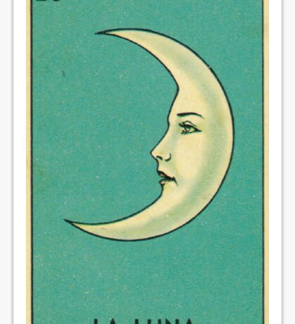Tarot Card - La Luna - loteria - The moon Sticker
