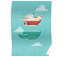 Floating Boat Poster