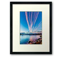 Pink clouds Framed Print