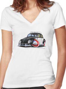 VW Beetle (Custom I) Women's Fitted V-Neck T-Shirt
