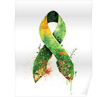 green ribbon Poster