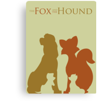 The fox and the hound Canvas Print
