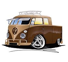 VW Splitty Crew Cab Pick-Up (B) Photographic Print
