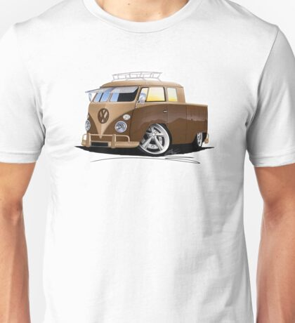 VW Splitty Crew Cab Pick-Up (B) Unisex T-Shirt