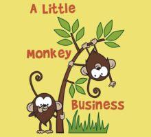 Baby Monkeys - A Little Monkey Business One Piece - Short Sleeve